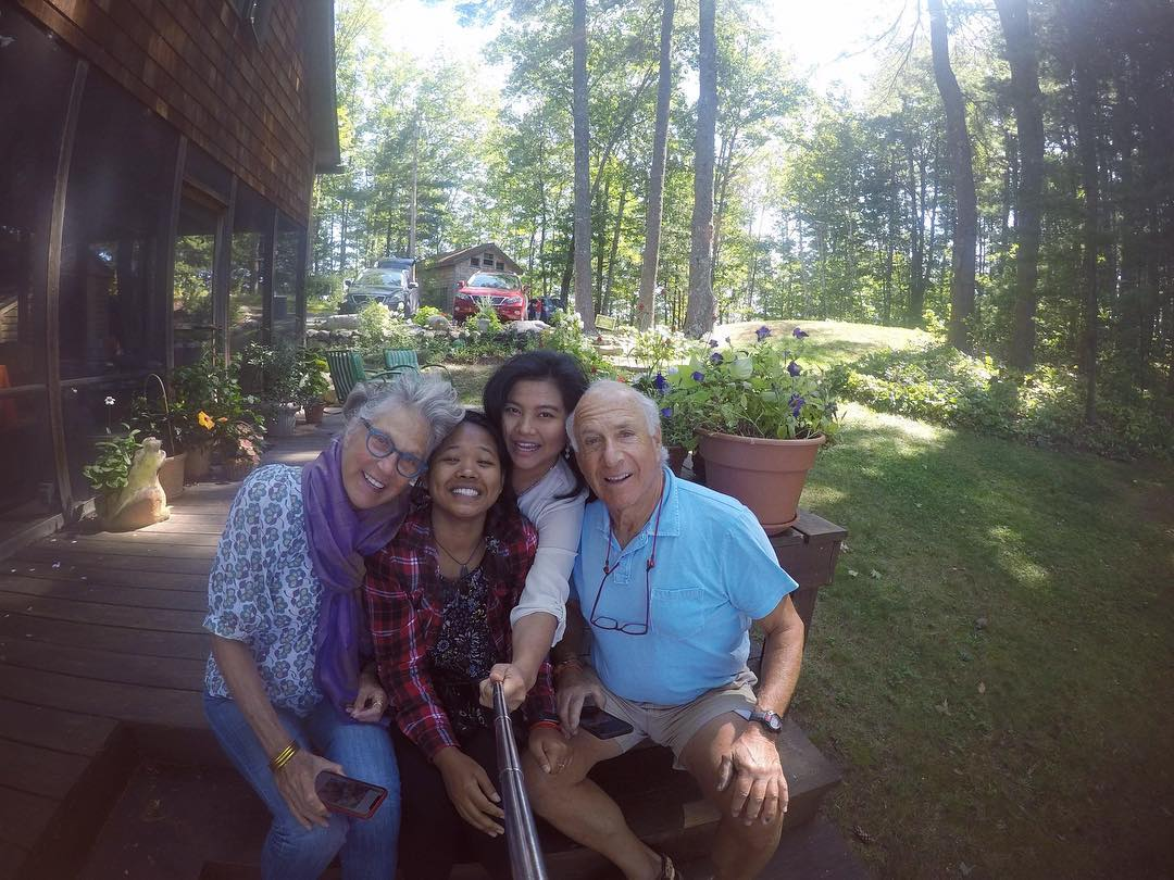 Nisa and I with Paul and Lauran at their summer home.