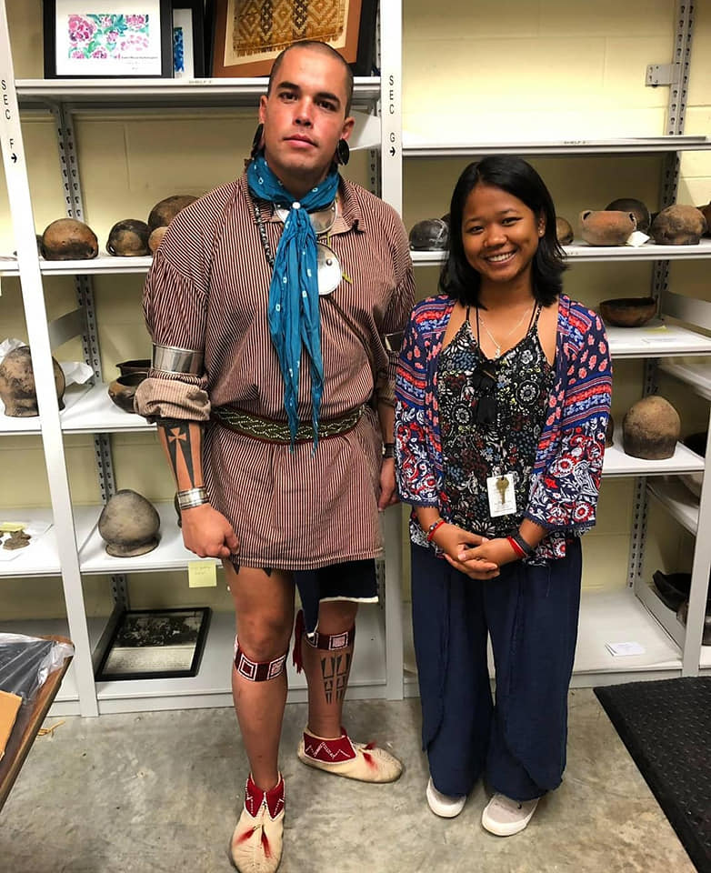 Me and the tour guide who is a Cherokee descendant