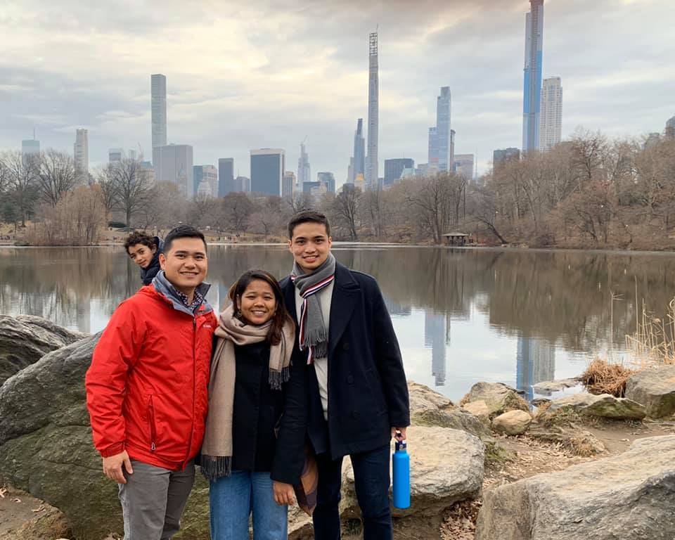 My friend, Chai, me and Phillpe, my hosts' son in Central Park, NY.